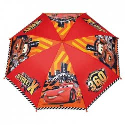 Loly Perletti Kids Umbrella Disney Pixar Cars Street X - Red 009140 8015831505084