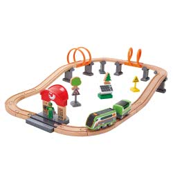 Hape Railway Solar Power Circuit Train Set E3762A 6943478021655