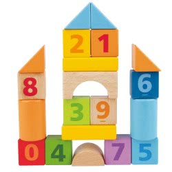 Hape Beech Block Count N Build 20 Pieces E8388A 6943478020016