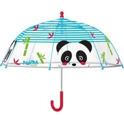 Cerda Perletti Ομπρέλα Μπαστούνι Διάφανη Panda Friends 45 Εκ. 15566 8015831155661