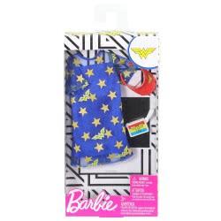 Mattel Barbie DC Comics Wonder Woman Fashion Pack Blue Dress Gold Stars FYW81 / FXK83 887961694161