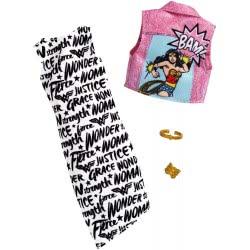 Mattel Barbie DC Comics Wonder Woman Fashion Pack Black And White Dress FYW81 / FXK84 887961693904