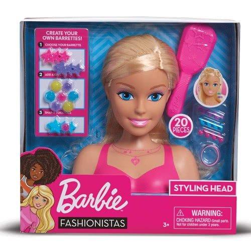 GIOCHI PREZIOSI Barbie Fashionistas Κεφάλι Ομορφιάς BAR28000 8056379045410