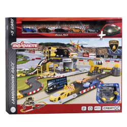 MAJORETTE Creatix Lamborghini Race With 5 Cars 212050025 3467452038574