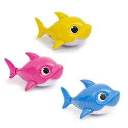 ZURU Robo Alive Junior Baby Shark Interactive Bath Toy With Sounds - 3 Colours BAH03000 8056379089421