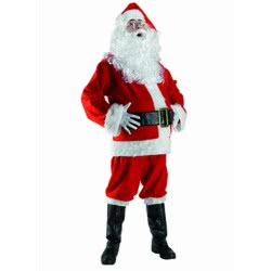 CLOWN Santa Claus Costume For Adults - One Size 71973 5203359719738