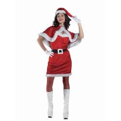 CLOWN Santa Claus Female Costume Νο. One Size 71972 5203359719721