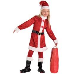 CLOWN Στολή Παιδική Άϊ Βασίλη Για Κορίτσια Με Μπότες Νο. 6-8 71697 5203359716973