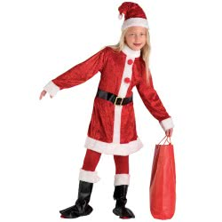 CLOWN Kids Costume Santa Clauss For Girls With Boots No. 6-8 71697 5203359716973