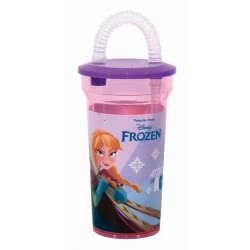 GIM Disney Frozen II Water Bottle With Straw - Pink 551-27225 5204549116221