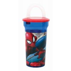 GIM Spiderman Παγούρι Με Καλαμάκι Σπάιντερμαν - Μπλε 557-20225 5204549116283