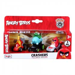 Maisto Angry Birds Crashers Pullback Racers Pack Of Three Figures 23035 090159230359