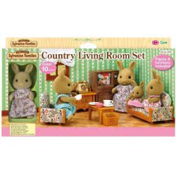 Epoch Sylvanian Families Country Living Room Set With Rabbit Mother 5163 5054131051634