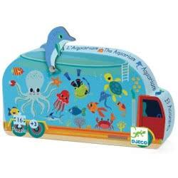 Djeco Silhouette Puzzles - 16Pcs The Aquarium 07266 3070900072664