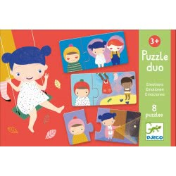 Djeco Educational Games - Puzzle Duo/Trio Emotions 08152 3070900081529