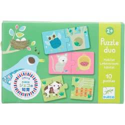 Djeco Puzzle Duo Habitat 08164 3070900081642
