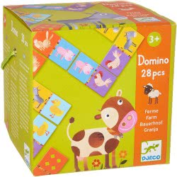 Djeco Domino Farm Educational Game For Kids 08158 3070900081581