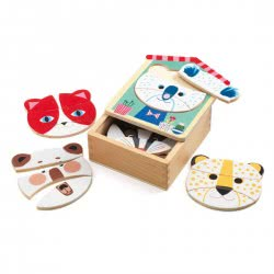 Djeco Wooden Puzzle Face - Mix 01679 3070900016798