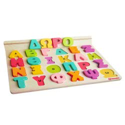 Svoora Wooden Alphabet With 50 Flash Cards - Greek Letters 03002 5208006030020