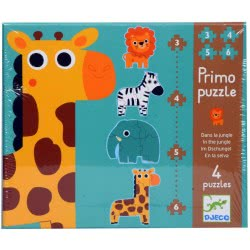 Djeco My First Puzzle Jungle Animals 07135 3070900071353