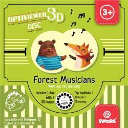 3D Ταινίες Viewer - Δίσκος Εικόνων Μουσικοί Του Δάσους Για 3D Optiviewer
