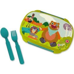 Oops Lunch Box With Split 370Ml Forest X30-40006-10 8033576719856