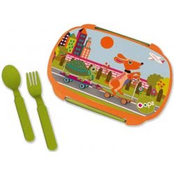 Oops Lunch Box With Split 370Ml City X30-40006-20 8033576719863