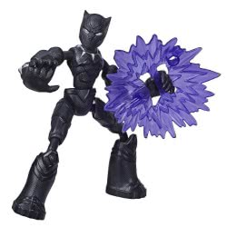 Hasbro Marvel Avengers Bend And Flex Action Figure 15 Cm. - Black Panther E7377 / E7868 5010993641871