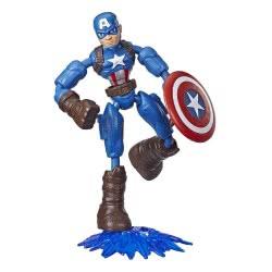 Hasbro Marvel Avengers Bend And Flex Φιγούρα Δράσης 15 Εκ. - Captain America E7377 / E7869 5010993641888