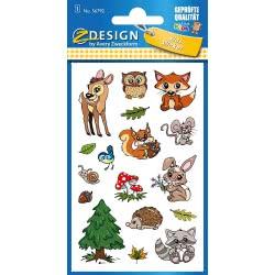 ZDesign Avery Zweckform Metallic Sticker 17 Labels, Woodland Design 56792 4004182567920
