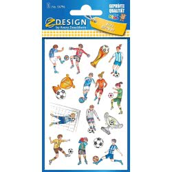 ZDesign Avery Zweckform Metallic Sticker 13 Labels – Football 56796 4004182567968