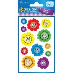 ZDesign Avery Zweckform Flowers Metallic Stickers 12 Pieces 53446 4004182534465