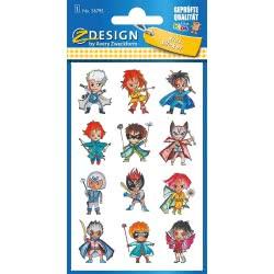 ZDesign Avery Zweckform Metallic Sticker 12 Labels – Super Heroes 56795 4004182567951