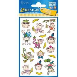 ZDesign Avery Zweckform Metallic Stickers Design Monkey 17 Labels 56798 4004182567982