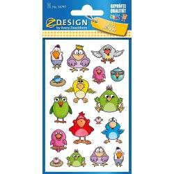 ZDesign Avery Zweckform Metallic Stickers 17 Labels Birds 56797 4004182567975