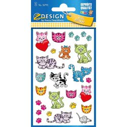 ZDesign Avery Zweckform Kittens Αυτοκόλλητα 27 Τεμ. - Γατάκια 56793 4004182567937