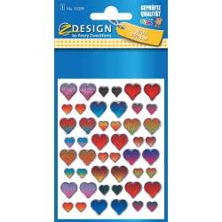 ZDesign Avery Zweckform 3D Hearts Stickers 55209 4004182552094