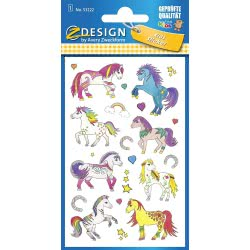 ZDesign Avery Zweckform Sticker Paper Embossed Sheet Large Horse 76X120 53222 4004182532225