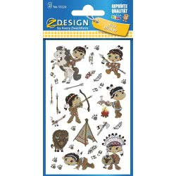 ZDesign Avery Zweckform Sticker Paper 2BG 76X120 Indians 53224 4004182532249
