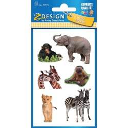 ZDesign Avery Zweckform Safari Stickers 18 Pieces 55978 4004182559789