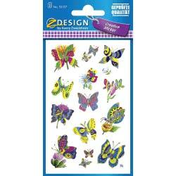 ZDesign Avery Zweckform Butterflies Αυτοκόλλητα 28 Τεμ. - Πεταλούδες 55157 4004182551578