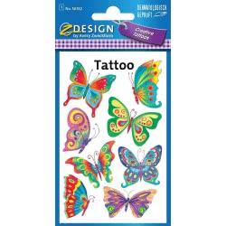 ZDesign Avery Zweckform 56742 Children Butterfly Tattoos 8 Sticker 56742 4004182567425