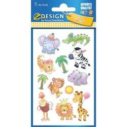 ZDesign Avery Zweckform Sticker Paper Embossed Sheet Large Safari 76X120 53226 4004182532263