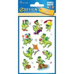 ZDesign Avery Zweckform 54043 Children Sticker, Dragon, 27 54043 4004182540435