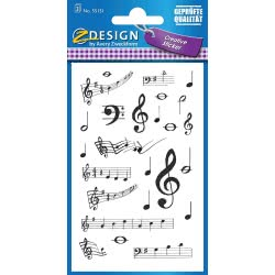ZDesign Avery Zweckform Musical Notes Stickers 75 Pieces 55151 4004182551516