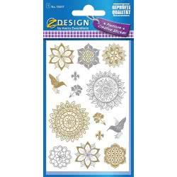 ZDesign Avery Zweckform 55657 Metallic Sticker Floral 12 55657 4004182556573