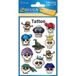 ZDesign Avery Zweckform Skulls Tattoo Stickers 18 Pieces 56736 4004182567364