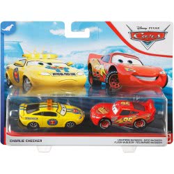 Mattel Disney/Pixar Cars 3 Hit And Run Αυτοκινητάκια Σετ Των 2 Charlie Checker And Lightning Mcqueen DXV99 / GKB73 887961822779