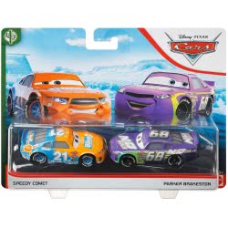 Mattel Disney/Pixar Cars 3 Hit And Run Αυτοκινητάκια Σετ Των 2 Speedy Comet And Parker Brakeston DXV99 / GKB74 887961822731