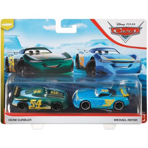 Mattel Disney/Pixar Cars 3 Hit And Run Die-Cast Set Of 2 Herb Curbler And Michael Rotor DXV99 / GLR94 887961848717